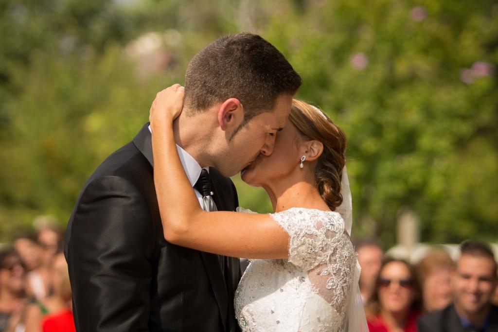 Primer beso reportaje de boda