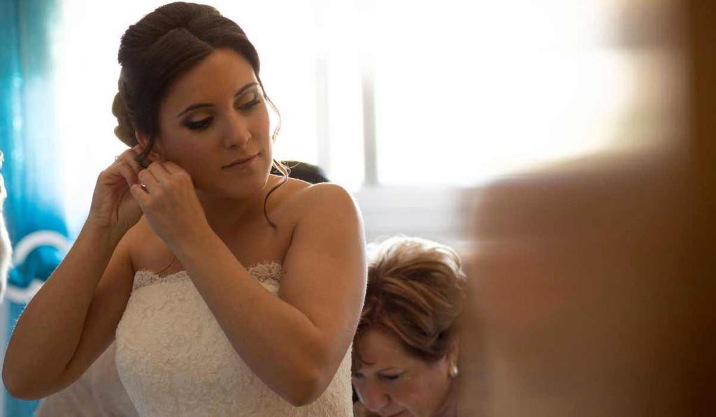 Preparativos de reportajes de boda