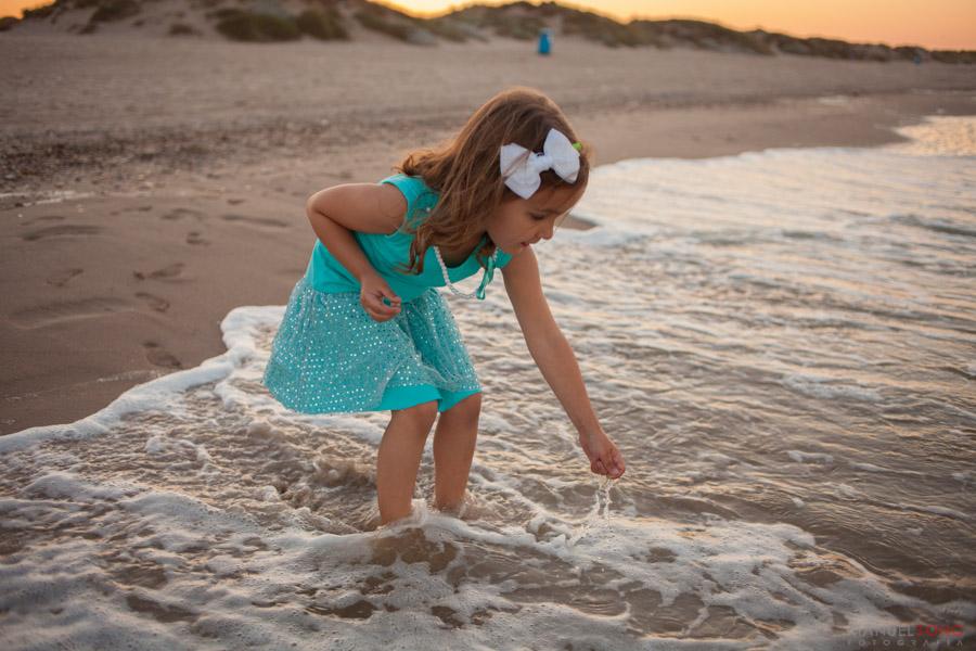 retratos en playa saler